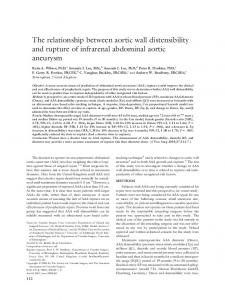 The relationship between aortic wall distensibility and rupture of ...