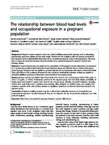 The relationship between blood lead levels and ... - BMC Public Health