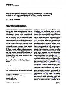The relationship between breeding coloration and ...