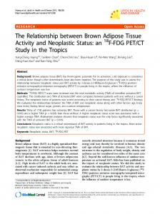 The Relationship between Brown Adipose Tissue ... - BioMedSearch