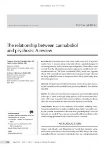 The relationship between cannabidiol and psychosis ...