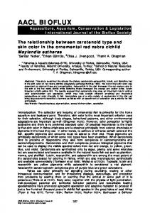 The relationship between carotenoid type and skin color in the ...