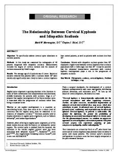 The Relationship Between Cervical Kyphosis and Idiopathic Scoliosis