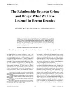 The Relationship Between Crime and Drugs - CNS Productions