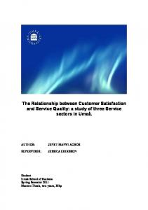 The Relationship between Customer Satisfaction and Service ...