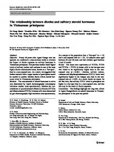 The relationship between dioxins and salivary steroid ... - Springer Link