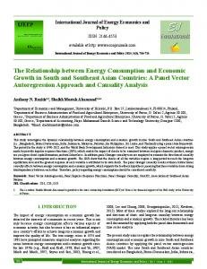 The Relationship between Energy Consumption and ... - DergiPark