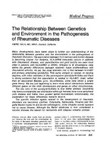 The relationship between genetics and environment in the ...