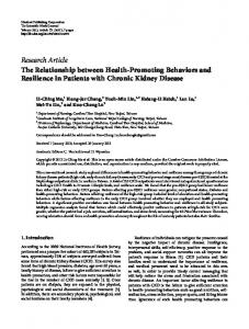 The Relationship between Health-Promoting Behaviors and ...