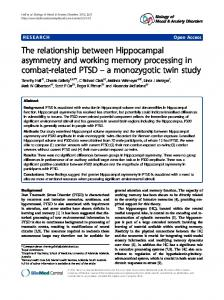 The relationship between Hippocampal asymmetry and working ...