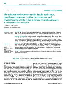 The relationship between insulin, insulin resistance ... - CiteSeerX