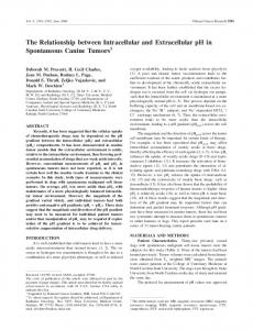 The Relationship between Intracellular and ... - Semantic Scholar