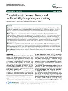 The relationship between literacy and ... - Semantic Scholar