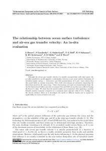 The relationship between ocean surface turbulence and air-sea ... - Core