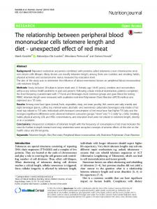 The relationship between peripheral blood mononuclear cells ...