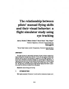 The relationship between pilots' manual flying skills ...