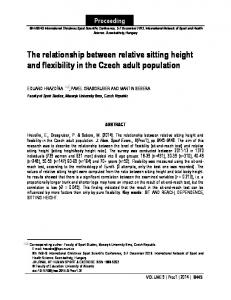 The relationship between relative sitting height