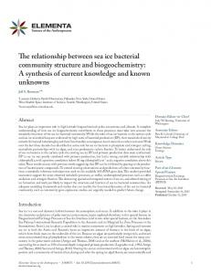 The relationship between sea ice bacterial community structure and ...
