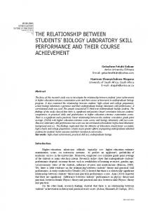 the relationship between students' biology laboratory skill performance ...