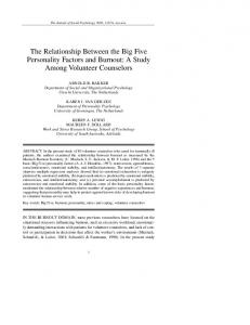The Relationship Between the Big Five Personality ... - CiteSeerX