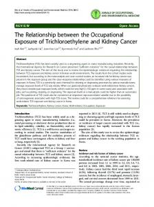 The Relationship between the Occupational Exposure of ...