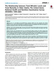 The Relationship between Total Bilirubin Levels and Total Mortality in ...
