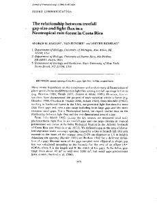 The relationship between treefall gap size and light ... - Wilkes University