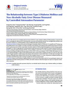 The Relationship between Type 2 Diabetes Mellitus and Non