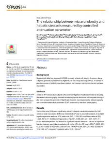The relationship between visceral obesity and ... - Semantic Scholar