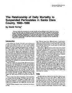 The Relationship of Daily Mortality to - BioMedSearch