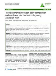 The relationships between body composition and ... - BioMedSearch
