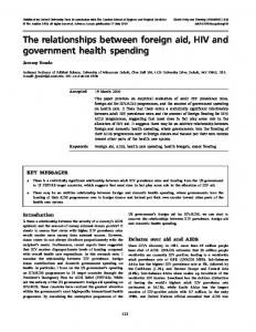 The relationships between foreign aid, HIV and ... - Oxford Academic