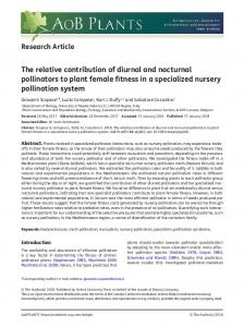 The relative contribution of diurnal and nocturnal ... - Oxford Journals