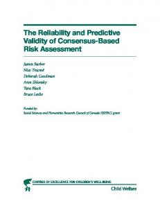 The Reliability and Predictive Validity of Consensus-Based Risk ...