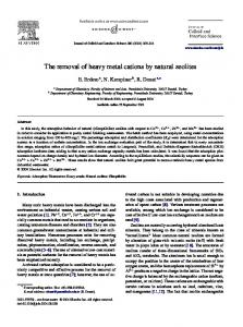 The removal of heavy metal cations by natural zeolites