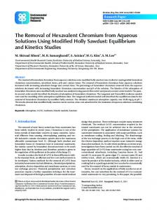 The Removal of Hexavalent Chromium from Aqueous Solutions Using ...