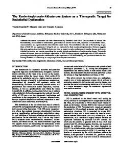 The Renin-Angiotensin-Aldosterone System as a ... - Bentham Open