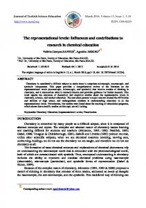 The representational levels: Influences and contributions to research