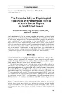 The Reproducibility of Physiological Responses and Performance ...