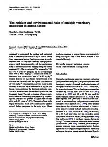 The residues and environmental risks of multiple veterinary antibiotics ...