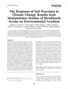 The Response of Soil Processes to Climate Change: Results ... - CREAF