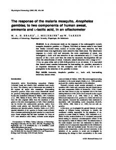 The response of the malaria mosquito, Anopheles gambiae, to two ...