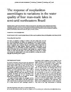 The response of zooplankton assemblages to variations in the ... - UFRN