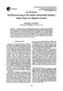 The Restructuring of the Indian Automobile Industry - ScienceDirect.com