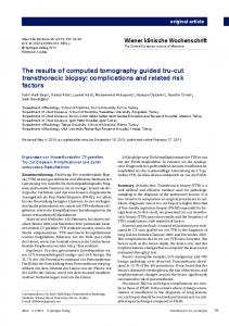 The results of computed tomography guided tru-cut ... - Springer Link