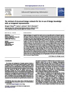 The retrieval of structured design rationale for the ... - Semantic Scholar