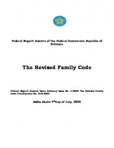 The Revised Family Code