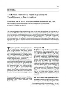 The Revised International Health Regulations ... - Wiley Online Library