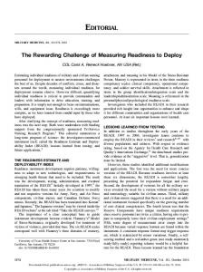 The Rewarding Challenge of Measuring ... - Semantic Scholar