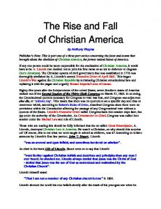 The Rise and Fall of Christian America